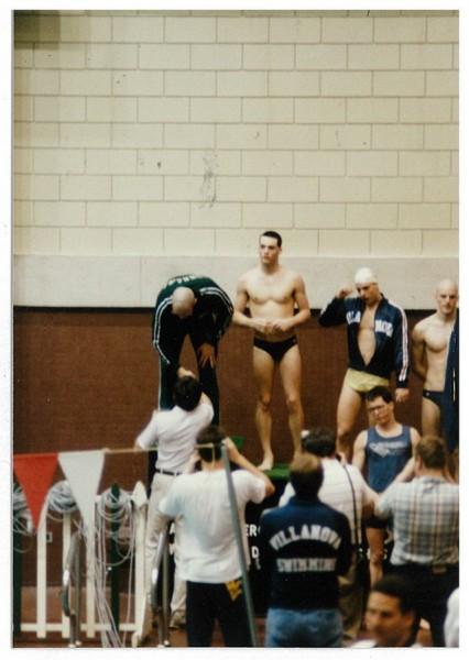 1987 Wally Presenting Harold Wagner_100 fly champion.jpg
