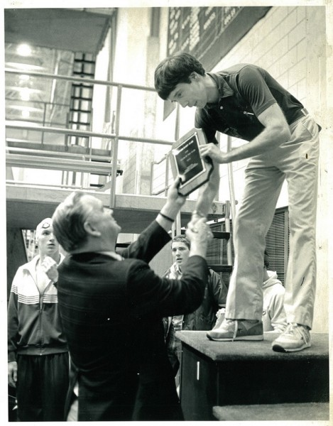 1984-Busbey Presenting Wally Morton 1984 Penn Ohio Coach of the Year.jpg