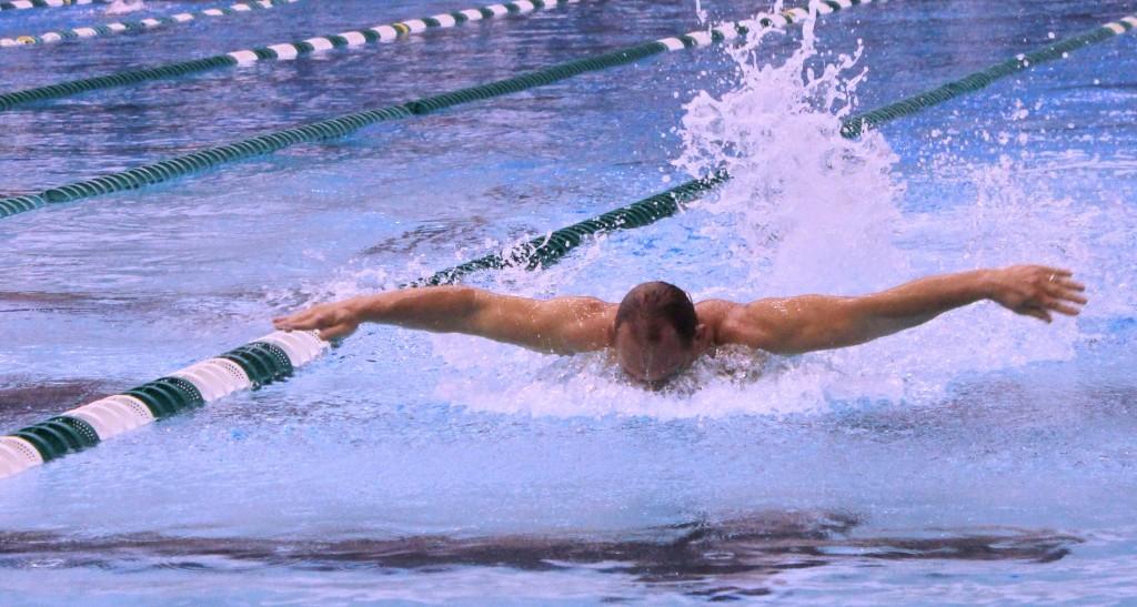 Chris flying along