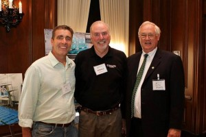 Joe Stockwell, co-chariman of the Champions Program, President Berkman & John Parry with Heritage Graphics