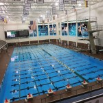Pool rendering w-ninth lane banner