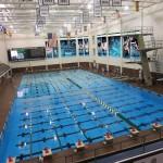 Pool rendering w-ninth lane banner